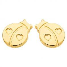 Boucles d'oreilles Coccinelle (or jaune 750�)