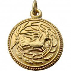 Médaille Colombe et lauriers 18 mm (or jaune 750°)