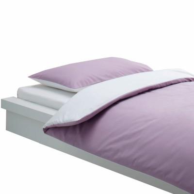 housse de couette et taie bicolore blanc et lilas 100 x. Black Bedroom Furniture Sets. Home Design Ideas