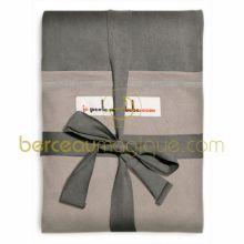 Echarpe de portage Eléphant poche Gris clair (COURTE)  par Je Porte Mon Bébé