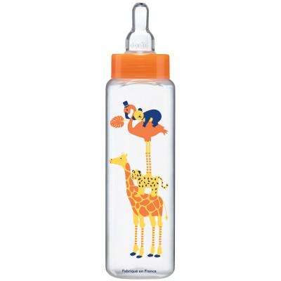 Biberon anticolique col étroit orange safari (330 ml)