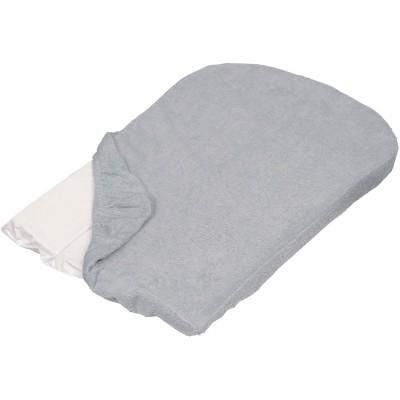 Lot de 2 housses de matelas à langer grises (50 x 70 cm)