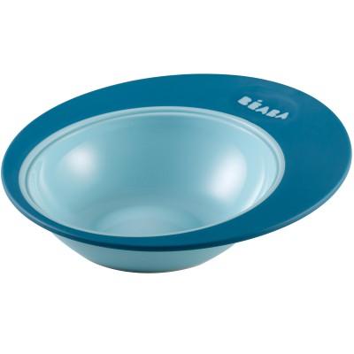 Assiette ergonomique ellipse bleue