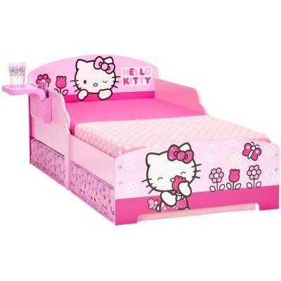 lit hello kitty avec rangement 70 x 140. Black Bedroom Furniture Sets. Home Design Ideas