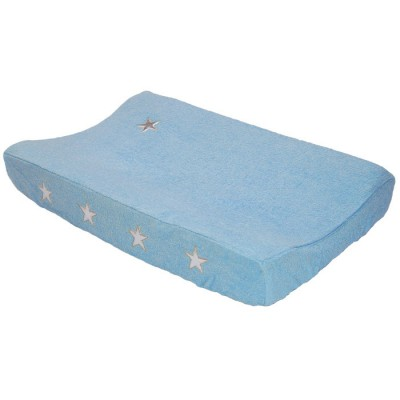 Housse de matelas à langer etoiles bleu clair (72 x 44 cm)