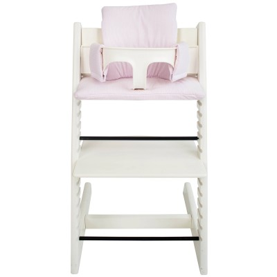 Assise pink stripe pour chaise haute stokke tripp trapp for Assise chaise haute