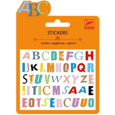 Minis stickers lettres colorées