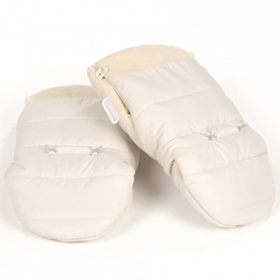 Moufles de poussette montblanc beige
