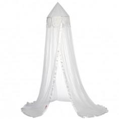 Ciel de lit Fleurs blanc - Taftan