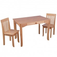 Ensemble table et 2 chaises Avalon bois naturel - KidKraft