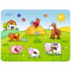 Puzzle musical les amis de la ferme (6 pi�ces) - Haba