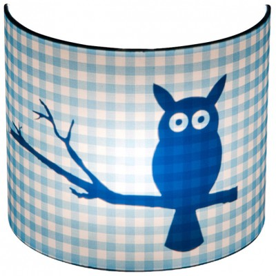 applique murale silhouette hibou bleu 20 x 24 cm. Black Bedroom Furniture Sets. Home Design Ideas