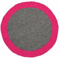 Tapis ballsrug neo mix rose (diam�tre : 90 cm) - Lilipinso