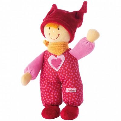 Poupée tissu rouge BabyDolly (24 cm)