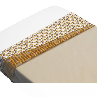 Drap de lit retro beige (100 x 80 cm)