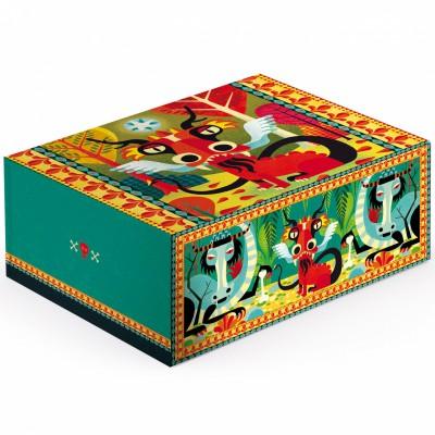 Boîte de rangement fantastique elliot dragons (32 x 25 cm)