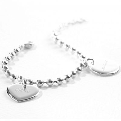 bracelet chane boule 1 charm mdaille ronde argent 925. Black Bedroom Furniture Sets. Home Design Ideas