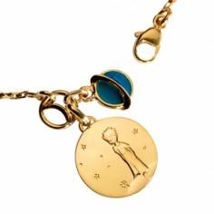 Bracelet Le Petit Prince sur sa plan�te avec plan�te bleue (or jaune 750�, diamant et �mail) - La Monnaie de Paris