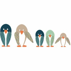 Sticker Famille de pingouins - Art for Kids