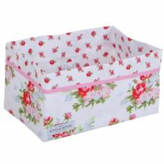 Panier de rangement Floral rose (grand mod�le) - Little Dutch