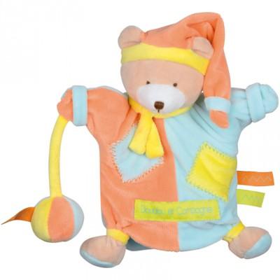 Doudou marionnette zigag ours (22 cm)