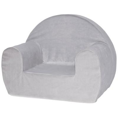 fauteuil club en mousse velours gris babycalin. Black Bedroom Furniture Sets. Home Design Ideas