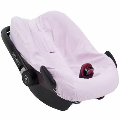 Housse de cosy pink stripe pour siège-auto pebble