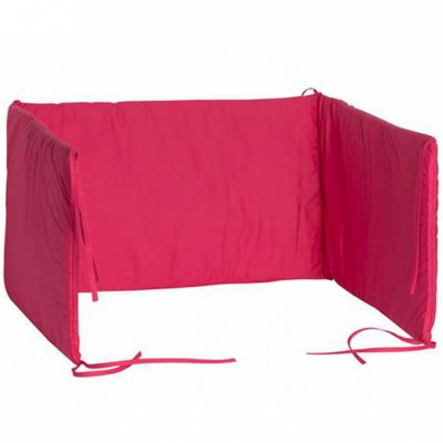 tour de lit fuchsia pour lits 60 x 120 cm jollein. Black Bedroom Furniture Sets. Home Design Ideas