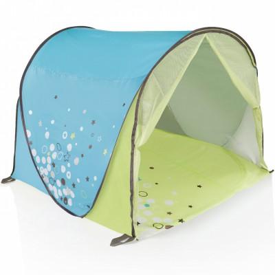 Tente pop-up anti uv vert et bleu