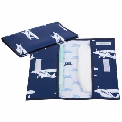 Pochette de change blue airplane