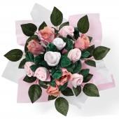 Bouquet de naissance Posy rose (7 pi�ces) - Babyblooms