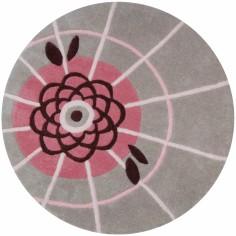Tapis coton ombrelle fleurs de lotus by Magali Fournier (80 cm) - Lilipinso
