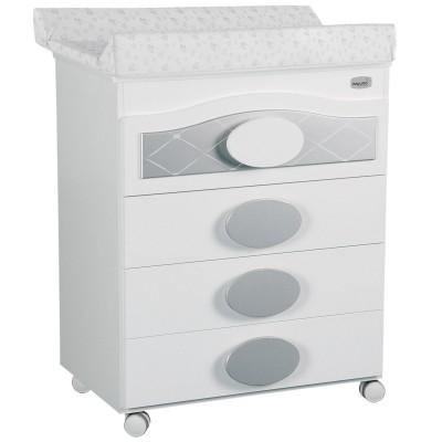 commode langer avec baignoire alexa blanche et argent. Black Bedroom Furniture Sets. Home Design Ideas