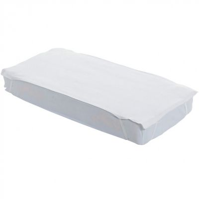 protge matelas en tissu bouclette blanc 70 x 140 cm. Black Bedroom Furniture Sets. Home Design Ideas