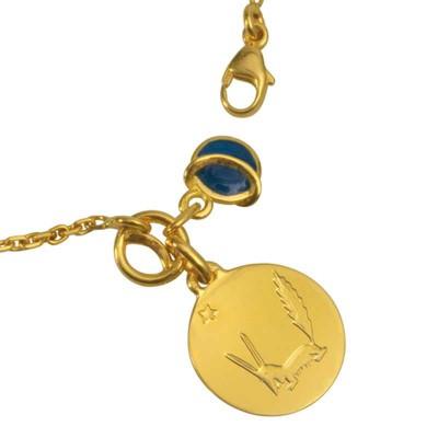 Bracelet le Renard du Petit prince et plan�te bleue (or jaune 750� et �mail) - La Monnaie de Paris