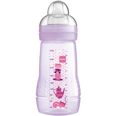 Biberon rose tétine débit moyen (270 ml)