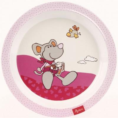 Assiette leonora souris rose