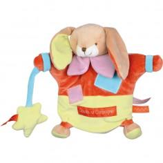 Doudou marionnette Zigag lapin (22 cm) - Doudou et Compagnie