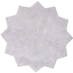 Tapis lavable flocon Lollipop gris (110 cm) - Nattiot