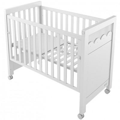 Lit bébé à barreaux amelia aran blanc (60 x 120 cm)