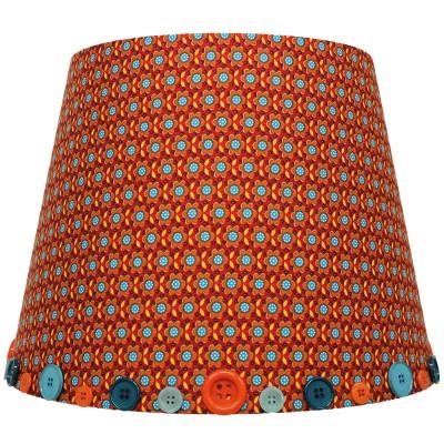 Abat-jour retro vintage orange pour lampe (35 x 28 cm)
