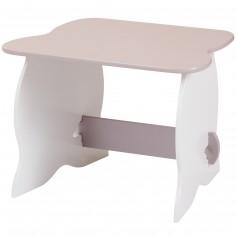 Table en bois blanche et taupe - Room Studio