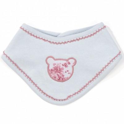 Bavoir bandana motif à fleurs english rose