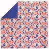 Tapis de sol nomade Animaux rouge et bleu (100 x 100 cm) - Art for Kids