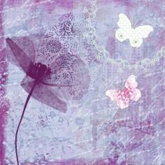 Tableau Butterfly Flower (30 x 30 cm) - Artis