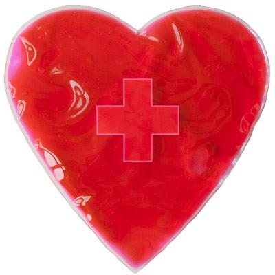 Poche gel buddy gel coeur rouge chaud ou froid