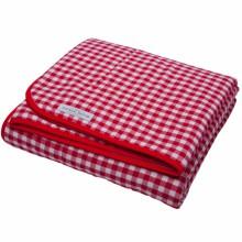 couverture de lit rouge carreaux 110 x 140 cm. Black Bedroom Furniture Sets. Home Design Ideas