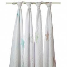 Lot de 4 maxi langes Swaddle �toile Super star - aden + anais