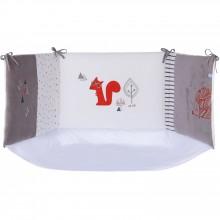 tour de lit bohme chic gris et blanc pour lit 60 x 120 et. Black Bedroom Furniture Sets. Home Design Ideas