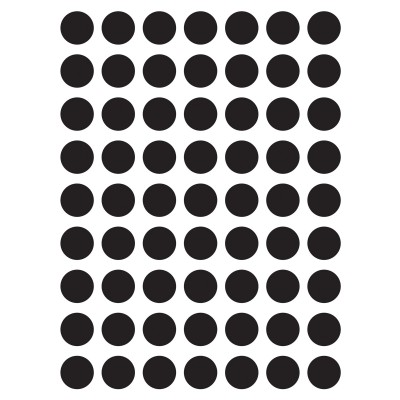 Stickers petits pois noirs by my lovely thing (18 x 24 cm)